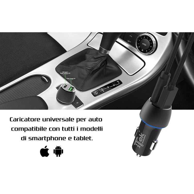 Itek Caricabatterie per auto 42W 6A ITSCCU42